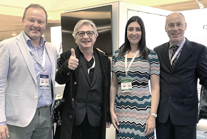 Olivier Zonza, AETHERN® Europe, Abili Falcó i Buixeda, AETHERN® CEO / Founder, Aminah Aboud, AETHERN® United Kingdom and Stefano Ciampella, AETHERN® Italy @ AMWC 2019