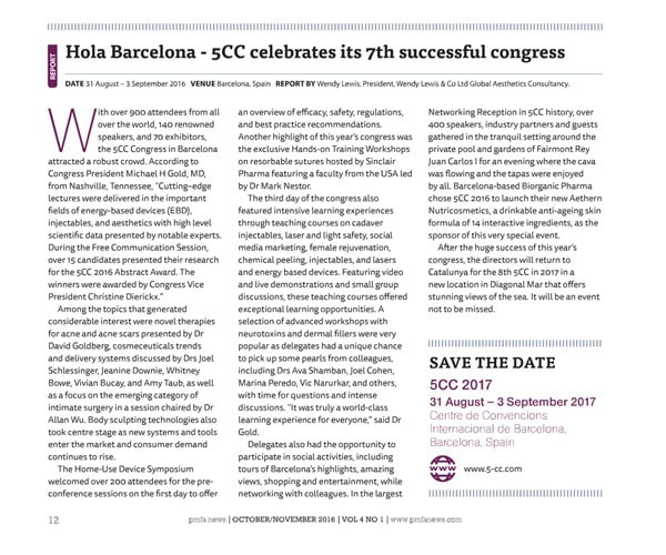Hola Barcelona – 5CC celebrates its 7th successful congress