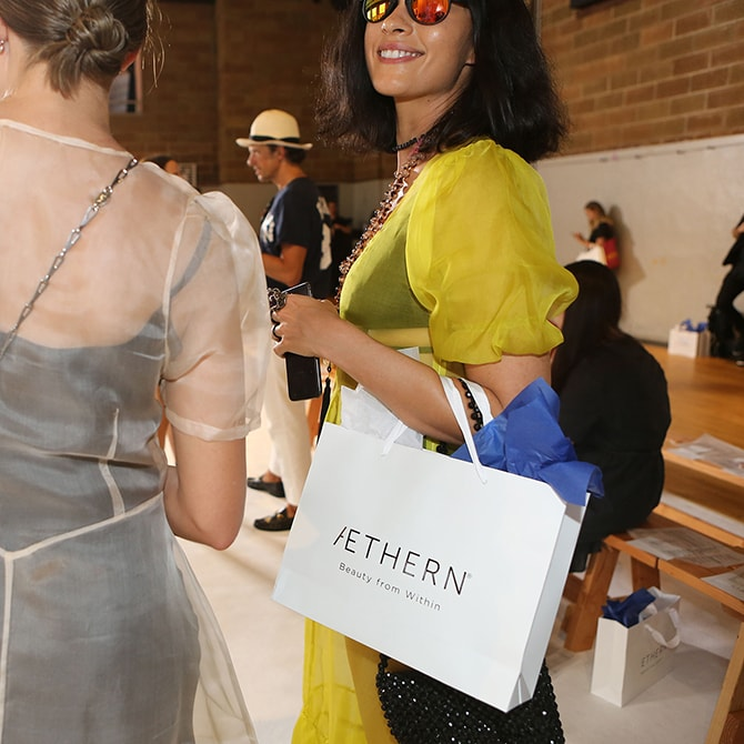 Collina Strada @ NYFW 2018 sponsored by AETHERN